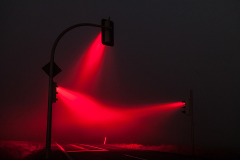 Misty Traffic Lights in Germany Photographed by Lucas Zimmermann (4)